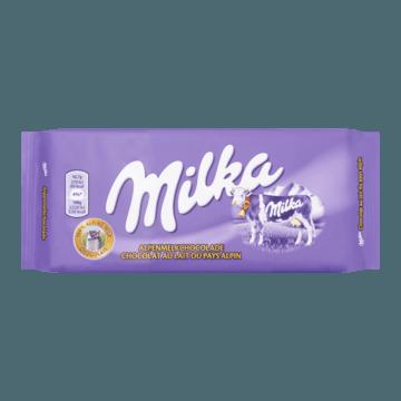 Milka Alpenmelk Chocolade Reep Melk 100g