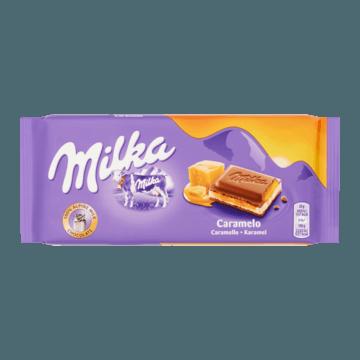Milka Caramel Melk Chocolade Reep 100g