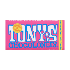 Tony's Chocolonely Wit Framboos Knettersuiker 180g